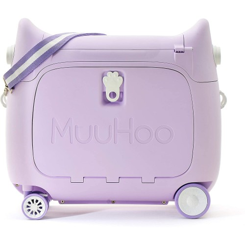 Παιδική Βαλίτσα Ταξιδιου Καμπίνας  τρόλευ Purple Muuhoo Kids Luggage  ΠΑΙΧΝΙΔΙΑ